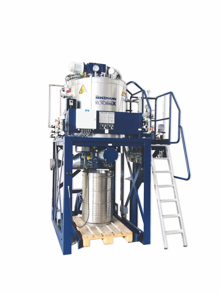 Distillation units for recovering solvents