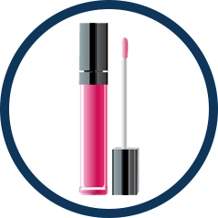 Image of cosmetics lip gloss