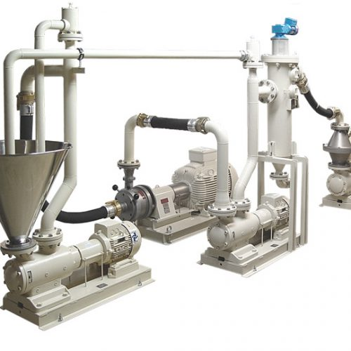 EVA vacuum de-aeration units of Probst Und Class used for the production of grease